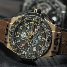 What do you get when you mix carbon and gold? Hublot Ferrari.