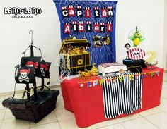 Great pirate party table #pirates #birthday