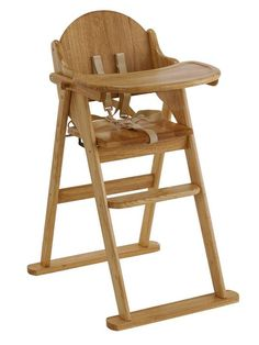 East Coast WOODEN FOLDING HIGHCHAIR -NATURAL Let your little one enjoy mealtimes in style with the beautiful East Coast wooden highchair. This wooden highchair has a classic design that you'll want to keep in the family for many years and is also easy to wipe clean, with no awkward fabric corners for food debris to gather in.The East Coast wooden highchair folds flat for easy storage, and comes with a tray, footrest and full safety harness.This sturdy folding highchair is also available i...
