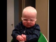 Baby sees mom for 1st time after getting special glasses.