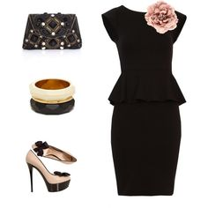 BLACK LOVES PINK, created by fabia77 on Polyvore