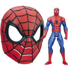 Ultimate Spider-Man Web Warriors Titan Hero Word-Slinging Spider-Man with Marvel Ultimate Spider-Man Spider-Man Mask