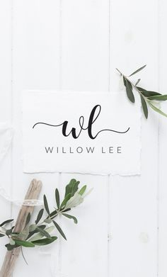 This premade logo design features a modern hand-lettered calligraphy font with gorgeous swashes to symbolise your two initials, followed by your name in a minimal classic font. It will suit any elegant, creative business - or if you simply want a nice signature graphic in your emails. https://www.etsy.com/au/listing/450677862