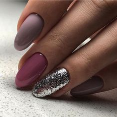 Awesome Acrylic Nail Art Designs To Inspire You 34 Fancy Nails, Love Nails, Trendy Nails, Glittery Nails, Silver Glitter, Nagellack Design, Nagellack Trends, Spring Nail Art, Spring Nails