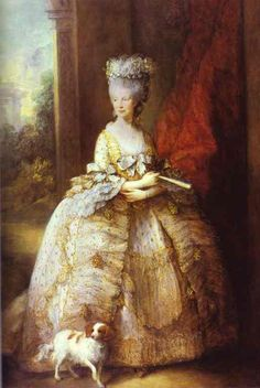 Portrait of Queen Charlotte - Thomas Gainsborough