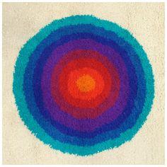 Spectrum Wool Rug by Werner Panton