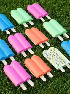 Popsicle Postcards (from pool noodles), plus watermelon and ice cream sandwich mailers