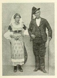 Calabria folk costume
