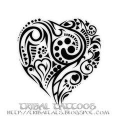 tribal tattoo that symbolizes love | Body Tattoo Design: 10 Unique Designs of Tribal Heart Tattoos Pictures