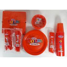 Pack fêtes Orange #jetable #vaisselle #melispot