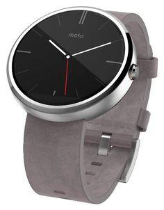 #amazon Motorola Moto 360 - Stone Leather Smart Watch - $179 (save 28%) #motorolamoto360 #motorola #motorolamobility