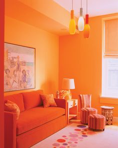 Can you ever have too much orange? No.  Drake Designs.