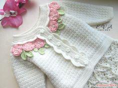 Здравствуйте! Я с новым комплектом для девочки. Комплект состоит из кофточки и юбочки. Для девочки на возраст 1 года. Начало моего вязания)))