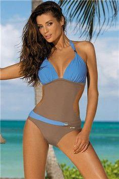 a863ed4a34 Sexy One Piece Swimsuit Women Swimwear Trikini Bathing Suit Push Up Monokini  Padded maillot de bain femme Halter Beachwear