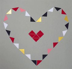 Triangles from Aurelia plain garland, inspired by Love Actually Our festive film inspired garlands