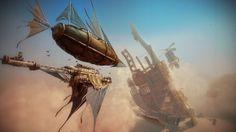 Flex Your Steampunk Airship Muscles Icarus Online, Dirigible Steampunk, Steampunk Ship, Flying Ship, Adventure Novels, Game Concept Art, Retro Futuristic, Dieselpunk, Zeppelin