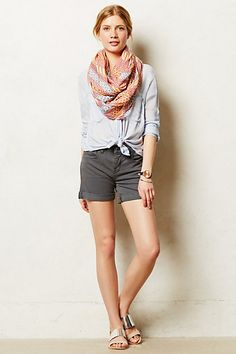 Pilcro Stet Roll-Up Shorts