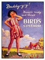 Birds custard advert from Bird's Custard, Tea Biscuits, Advertising Poster, Vintage Advertisements, Aga, Cupboard, 1930s, Postcards, England