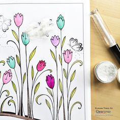 How to WATERCOLOR with your ink pads ... YES! http://blog.clearsnap.com/2016/06/using-colorbox-dye-ink-to-watercolor-your-coloring-book-pages/