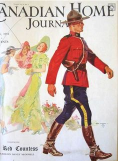 Canadian Home Journal, July 1934 Canadian Things, I Am Canadian, Canadian History, Canada Eh, Canada North, Magazine Illustration, Graphic Artwork, Beautiful Book Covers, Out Of Africa