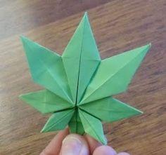 Origami Marihuana leaf