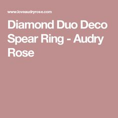 Diamond Duo Deco Spear Ring - Audry Rose