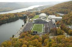 Michie Stadium in upstate New York is home to the United States Military Academy (West Point) football team. It is dramatically situated along the Hudson River and opened in 1924.