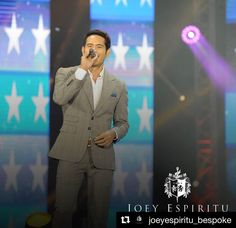"#Repost @joeyespiritu_bespoke (@get_repost) ・・・ ""Fashion says 'me too', style says 'only me'"" - Anonymous.  Gerald Anderson, wearing a Joey Espiritu checkered grey wide lapel suit for his leading man production at the Star Magic 25th anniversary on ASAP at the Araneta  Coliseum, May 21. Definitely, only him. Always in a Joey Espiritu.  #BespokeTailoring  #WearYourDebonair  #ASAPStarMagic25 #leadingmenprod #JoeyEspiritu  #suit #classic #widelapel  #peaklapel #fashion  #menfashion #checkered…"