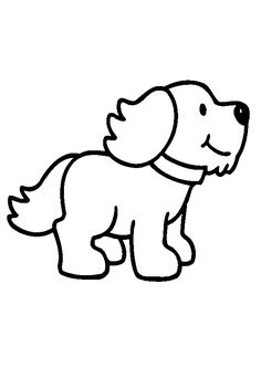 Beautiful Simple Animal Coloring Pages 92 Simple Dog Coloring Page