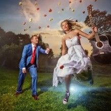 Wedding photo and lighting setup with Natural Light, Strobe, Reflector and Regular Flash by Piotr Knap (1/200 sec., f/14, ISO: 50)