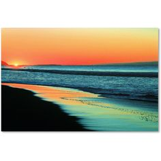 Beata Czyzowska Young 'Good Morning Sunshine' Canvas Art ($60) ❤ liked on Polyvore featuring home, home decor, wall art, landscape painting, abstract painting, beach wall art, sun wall art and canvas painting