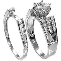 Silver Ring with CZ - Wedding Set - Size 7 price - wedding ring hand | ring engagement finger