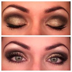 This look is gorgeous! Created with all Younique Products. Here's how to get this look: Irresistible (Eye Shadow Pigment) on lid, Devious in crease, Angelic under brow, Elegant Splurge on lid (last) tiny bit of Naive blended over Devious to soften. Perfect eye liner top and bottom, Devious smudged under eye over liner. GORGEOUS!