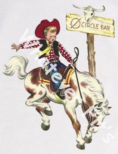 Cute vintage cowboy tshirt @Amanda Hayes