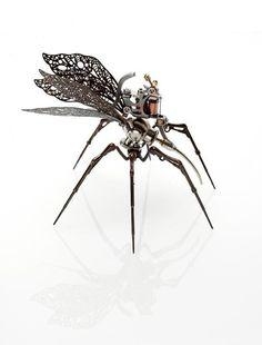 Tattoo Machine Art Steampunk Design, Steampunk Fashion, Ny Ink, Sculpture Metal, Arte Cyberpunk, Found Object Art, Insect Art, Tattoo Supplies, Robot Art