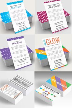 Rodan and Fields mini-facial cards. They are completely customizable and you can order digital file or prints. These have been popular with Rodan and Fields consultants as well as estheticians, makeup artists and salon owners. Do you need instructions, business cards or any other promotional item for your direct sales products? I'd be happy to collaborate and customize the perfect design and marketing material to help promote your brand and grow!