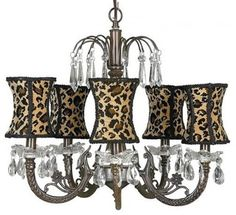 Animal Print chandelier