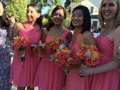 Bridesmaid bouquets created by: Seasons Floral Design of the Napa Valley www.seasonsfloraldesign.com