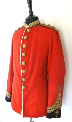 VICTORIAN LT. COLONEL'S TUNIC OF THE MADRAS STAFF CORPS  