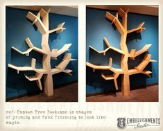 Tree Shaped Book Case, Book Shelves shaped like branches for children by Aaron Christensen Tree Book Shelves, Tree Bookshelf, Tree Shelf, Bookshelves, Shape Books, Tree Shapes, Shelving Ideas, Branches, Dental