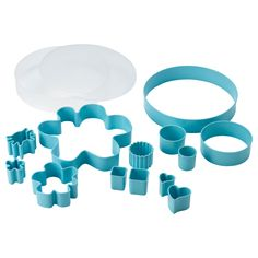 IKEA - DRÖMMAR, pastry cutter set in box, light blue, Several sizes and shapes for everything, from making marzipan decorations to cutting cookies. The box can also be used to store the pastry cutters. Wash this product before using it for the first time.