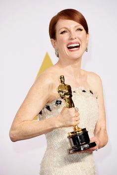 """Julianne Moore : Best Actress Winner, at the 87th Annual Academy Awards on Feb, 22, 2015, for the movie """" Still Alice"""""""