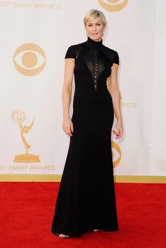 Robin Wright in Ralph Lauren on the Red Carpet at the 2013 Emmy Awards