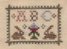 Homespun Elegance design  (...cr...if you keep clicking you will enlarge it so that, if you had some chart paper, you would be able to chart it....about 37x26)