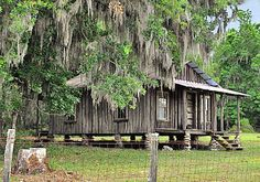 This looks like our old cracker house in north florida