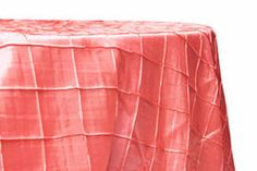 Elegant Wholesale Wedding Pintuck Coral Round Tablecloth For Table Topper.