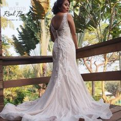 Stunning real bride Lal looks radiant in 'Allegra' by Anna Sorrano  Could this elegant lace fishtail be your dream dress?  If you would like to be featured please send your photos to info@wed2b.co.uk