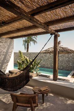 Casa Cook Kos: A Relaxing Beachside Hotel on a Greek Island (Gravity Home) Outdoor Spaces, Outdoor Living, Outdoor Decor, Outdoor Lounge, Exterior Design, Interior And Exterior, Room Interior, Casa Cook Hotel, Kos Hotel