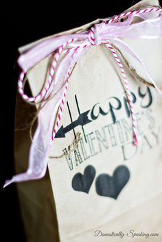 Super cute DIY Brown Bag Valentine Gift Printable... a super easy gift idea... fill with treats!