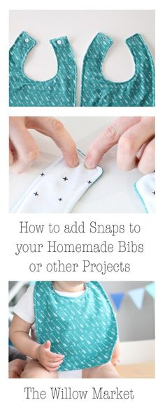 How to add Snaps to your Homemade Bibs or other Projects